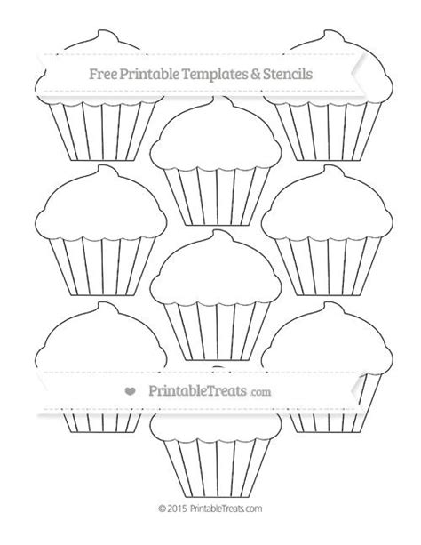 free printable small cupcake template shapes and