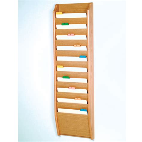 Folder Wall Rack by Wall Mount Letter Size File Holder Horizontal Folder Rack Literature Holder Ebay
