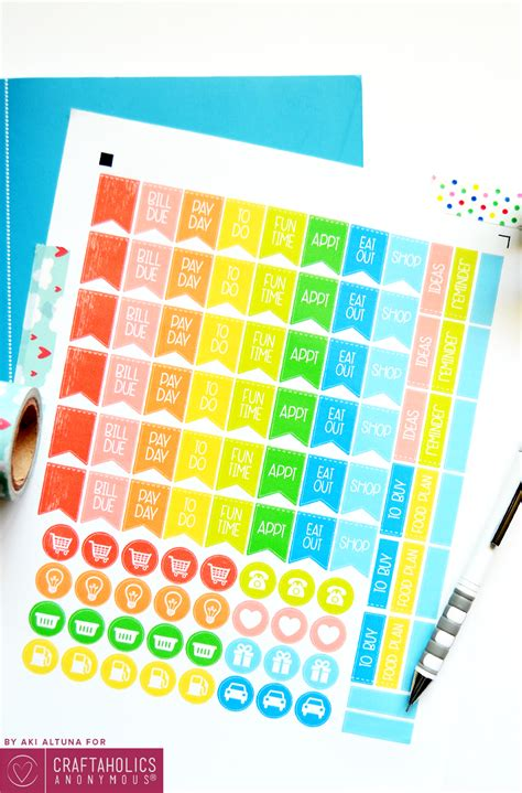 Galerry free printable cute planner stickers