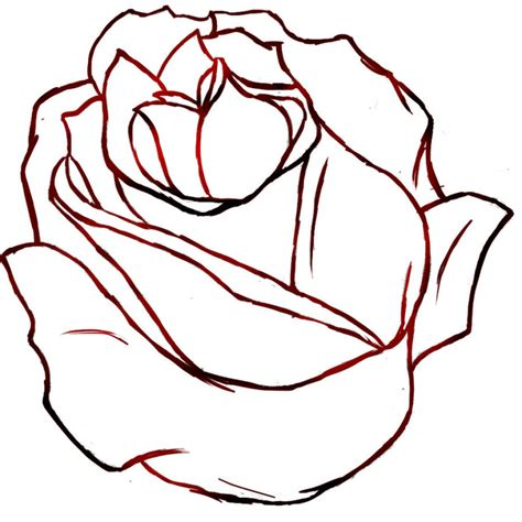 flowers drawing rose how to draw a simple rose tattoo