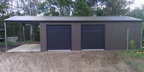 3 Bay Shed by 3 Bay Garage Workshop With Carport In Woondum