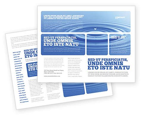 water purification brochure template design and layout