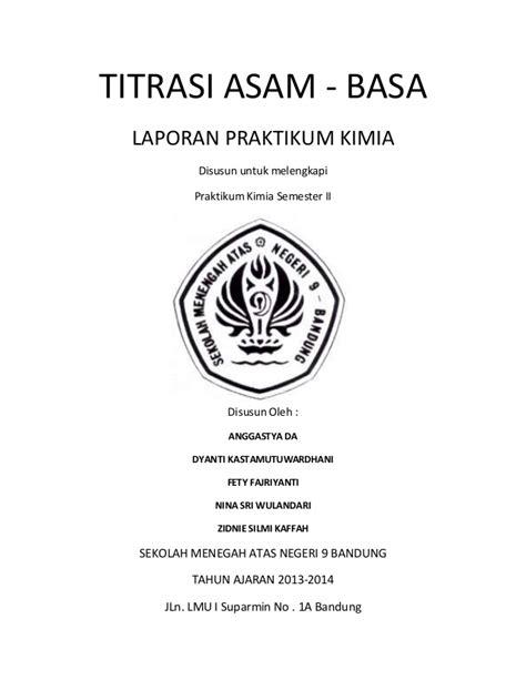 laporan praktikum membuat indikator asam basa laporan praktikum titrasi asam basa