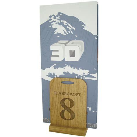 wooden table number holders wooden tabletop menu holder table numbers