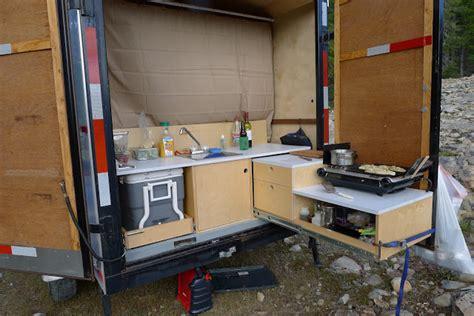 Cer Trailer Kitchen Ideas Cargo Trailer Cer Conversion Ideas Car Interior Design