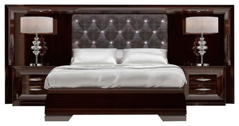 md 38 special headboard bedroom set glossy wood