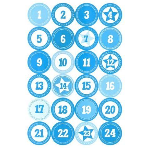 Zahlen Aufkleber Grau by Adventskalender Zahlen Aufkleber Blau Wei 223