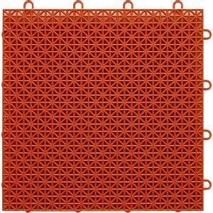 topdeck terra cotta polypropylene 1ft x 1ft deck tile
