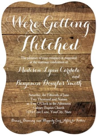 getting hitched barn wood wedding invitations zazzle country style wedding invitations