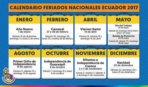 fechas especiales de ecuador fiestas del ao de ecuador calendario de feriados 2017 ecuadorlegalonline