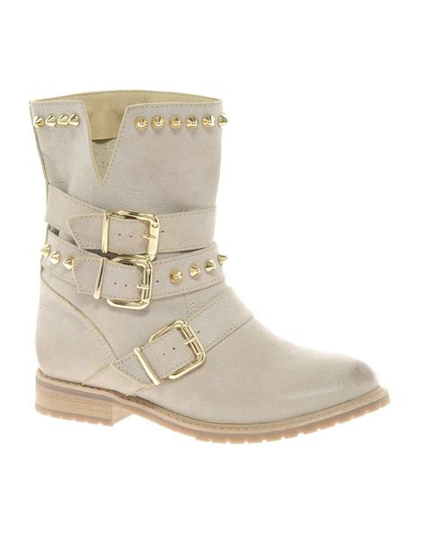 River Island Sketch White Biker Boots From Asos Epic