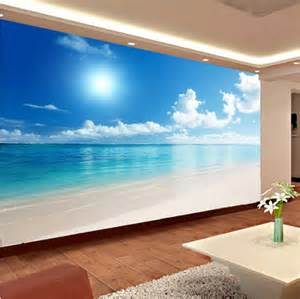 Relaxing Wall Murals relaxing 3d calm ocean beach blue sky wallpaper mural wall art three