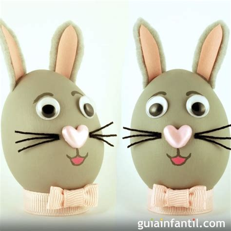 huevos con caritas para colorear decorar huevos con carita de conejo