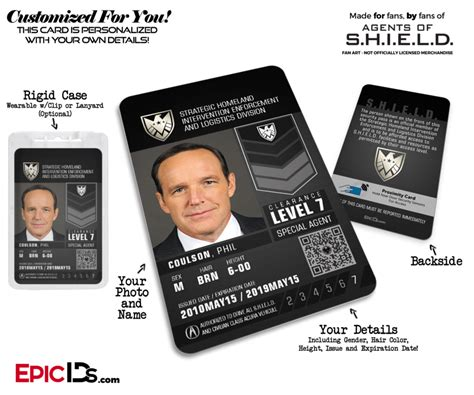 Agents Of Shield Inspired Real Shield Agent Id Maria Hill Epic Ids Of Shield Id Card Template