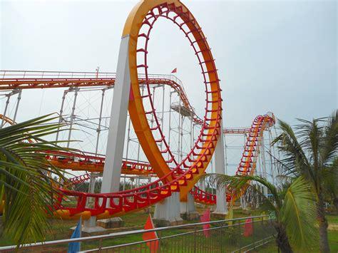 the roller coaster at flambards theme park near helston file baishamen park amusement park roller coaster