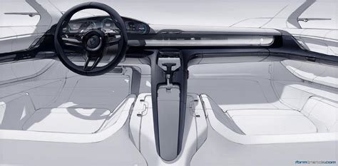 porsche mission e sketch design porsche mission e concept