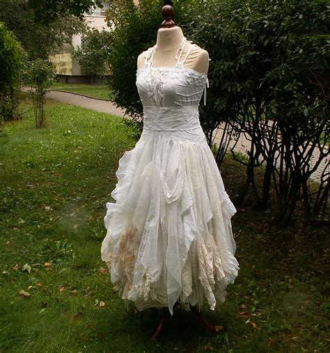 Upcycling Clothes Before And After - alternative upcycled wedding dress with pieces of by cutrag