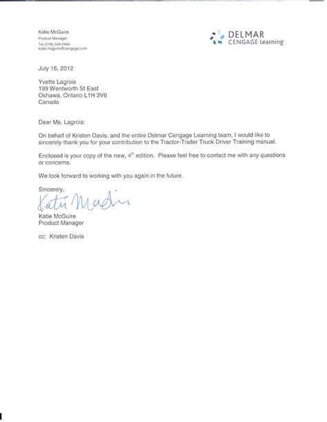 Endorsement Letter For Driver Letter Commercial Driver Truck In Oshawa Mississauga Peterborough And Kingston