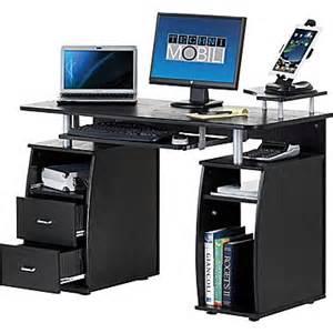 Whalen Desks Techni Mobili Multi Function Computer Desk Espresso