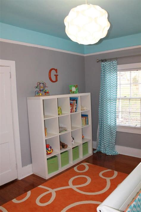 graham s bright and modern nursery grey room behr and turquoise