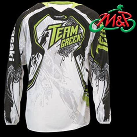 kawasaki motocross jersey genuine kawasaki mx pro motocross team green jersey 2012