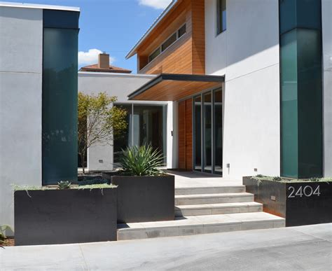 Free Standing Kitchen Cabinets Corten Steel Planters Landscape Contemporary With None