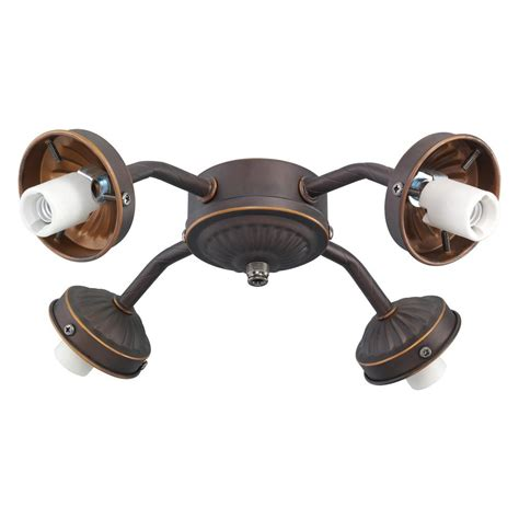 Monte Carlo Ceiling Fan Light Kits Monte Carlo 4 Light Bronze Fitter Ceiling Fan Light Kit Mc37rb L The Home Depot