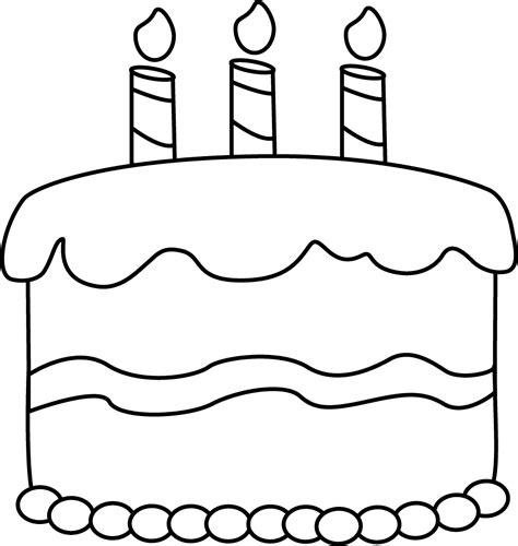 coloring page birthday cake no candles small black and white birthday cake clip art small black