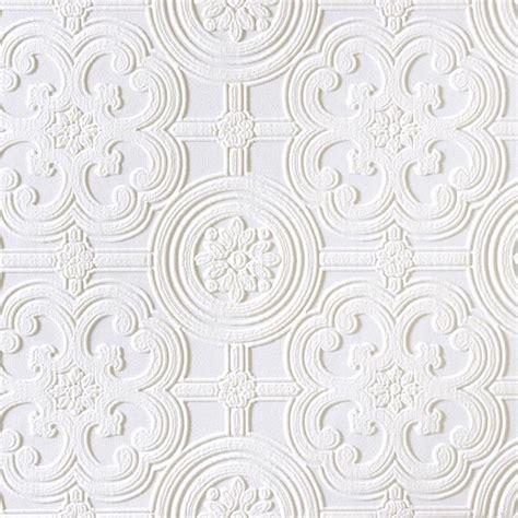 Tile Pattern Paintable Wallpaper | shop brewster wallcovering anaglypta x paintable vinyl