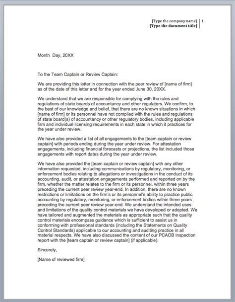 management representation letter format sle management representation letter tax sle