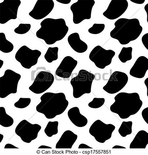 cow pattern vector art clipart vector of cow seamless pattern background vector