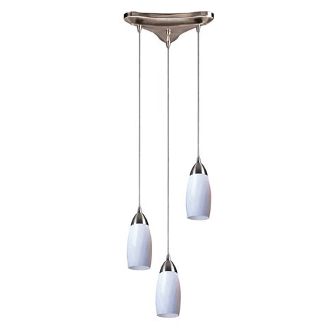 Three Light Pendant Modern Multi Light Pendant Light With Glass And 3