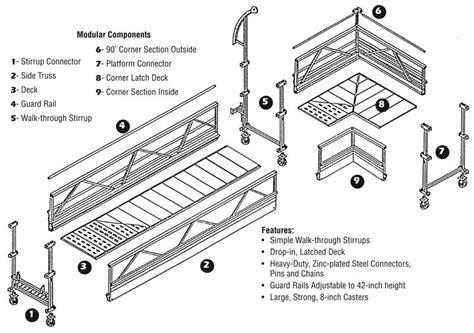 swing lo scaffolding hi lo climber s model 355 series lynn ladder scaffolding
