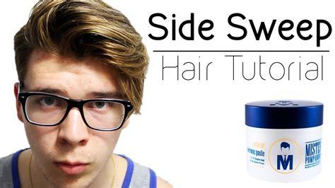 mens side swept undercut hair tutorial long undercut