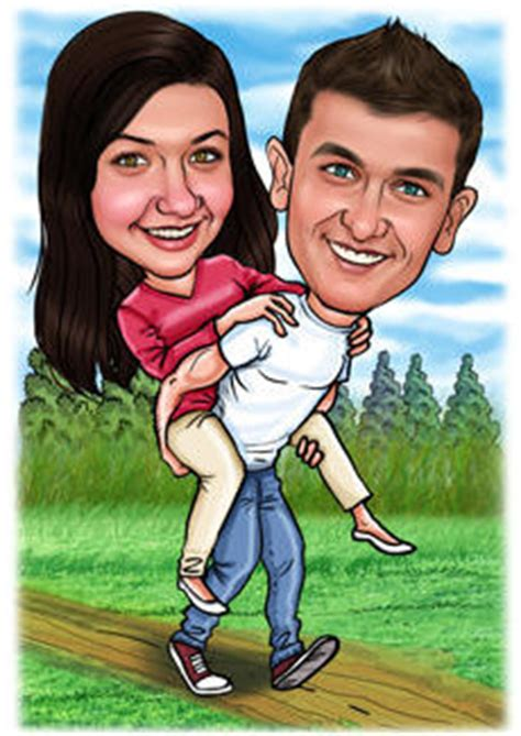 Couples Caricatures Bill And Ben The Cartoon Men Caricatures From Photos Caricature Templates Free