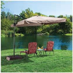 Patio Umbrellas Big Lots Wilson Fisher 174 Offset 8 5 Square Umbrella With Removable Netting At Big Lots Gardening