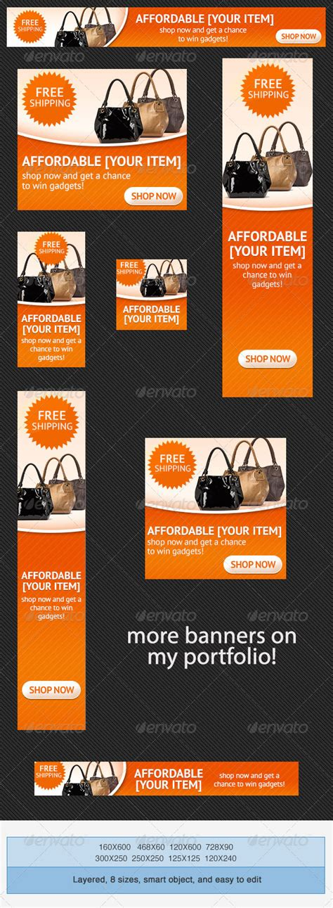 Ad Template Psd shopping psd banner ad template graphicriver