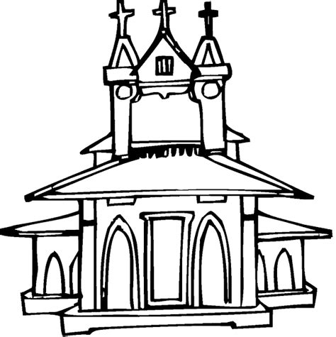 free coloring pages of catholic church
