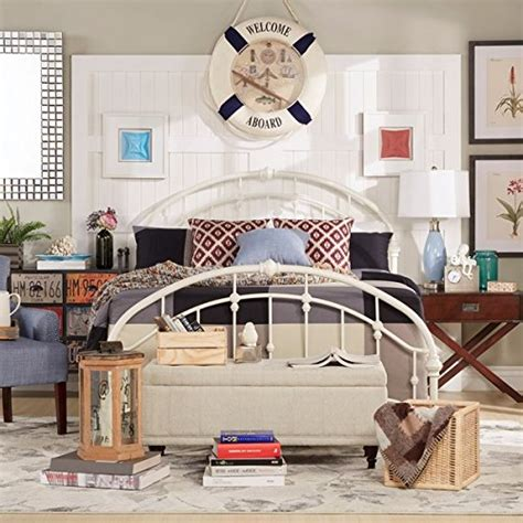 White Antique Vintage Metal Bed Frame In Rustic Wrought Fashioned Metal Bed Frames
