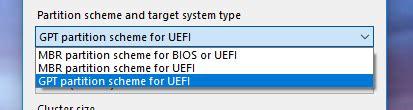 membuat usb boot uefi cara membuat bootable usb uefi dan gpt partition windows