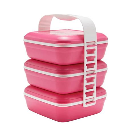 Nzf Tupperware Picnic Set Trio jual tupperware picnic set trio pink harga