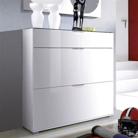 white shoe cabinet california high gloss shoe cabinet in white with grey gloss