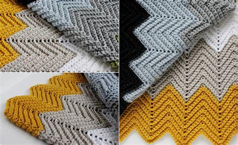 chevron pattern in crochet chevron crochet blanket free pattern diy smartly