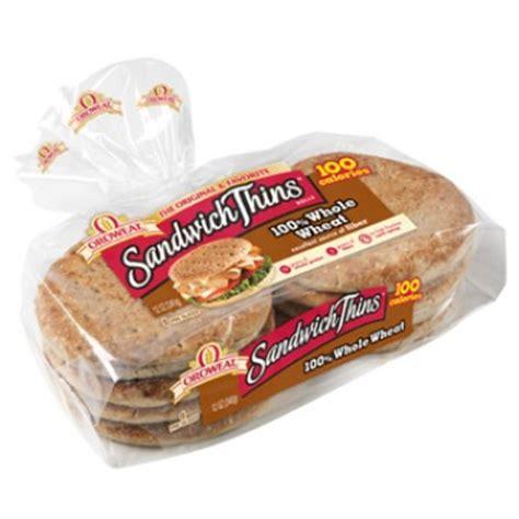 whole grain 100 calorie bread oroweat sandwich thins 100 whole wheat 8 ct