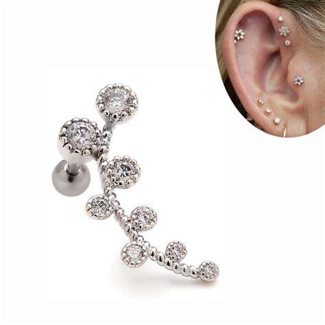 2pcs 16g 24mm branch ear cartilage helix ear studs