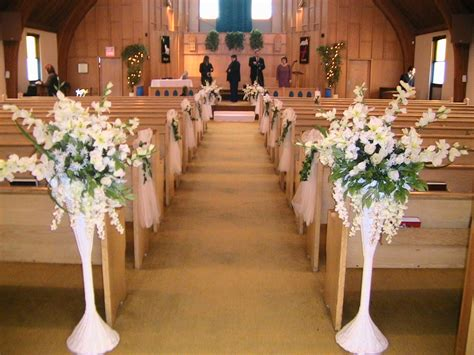 simple but church wedding decorations
