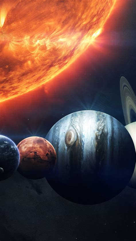 wallpaper sun planet hd space