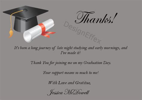 thank you card template graduation money graduation thank you cards designeffex