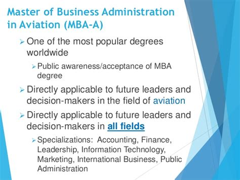 Marketing Mba In Canada by Erau Degree Briefing Bs Technical Management And Mba In