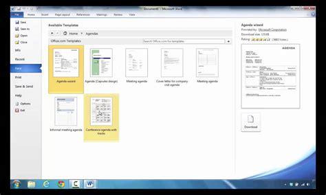 Creating An Agenda Using A - how to create an agenda in microsoft word 2010 youtube